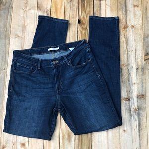 Levi's | Dark Wash Mid Rise Skinny Jeans size 14